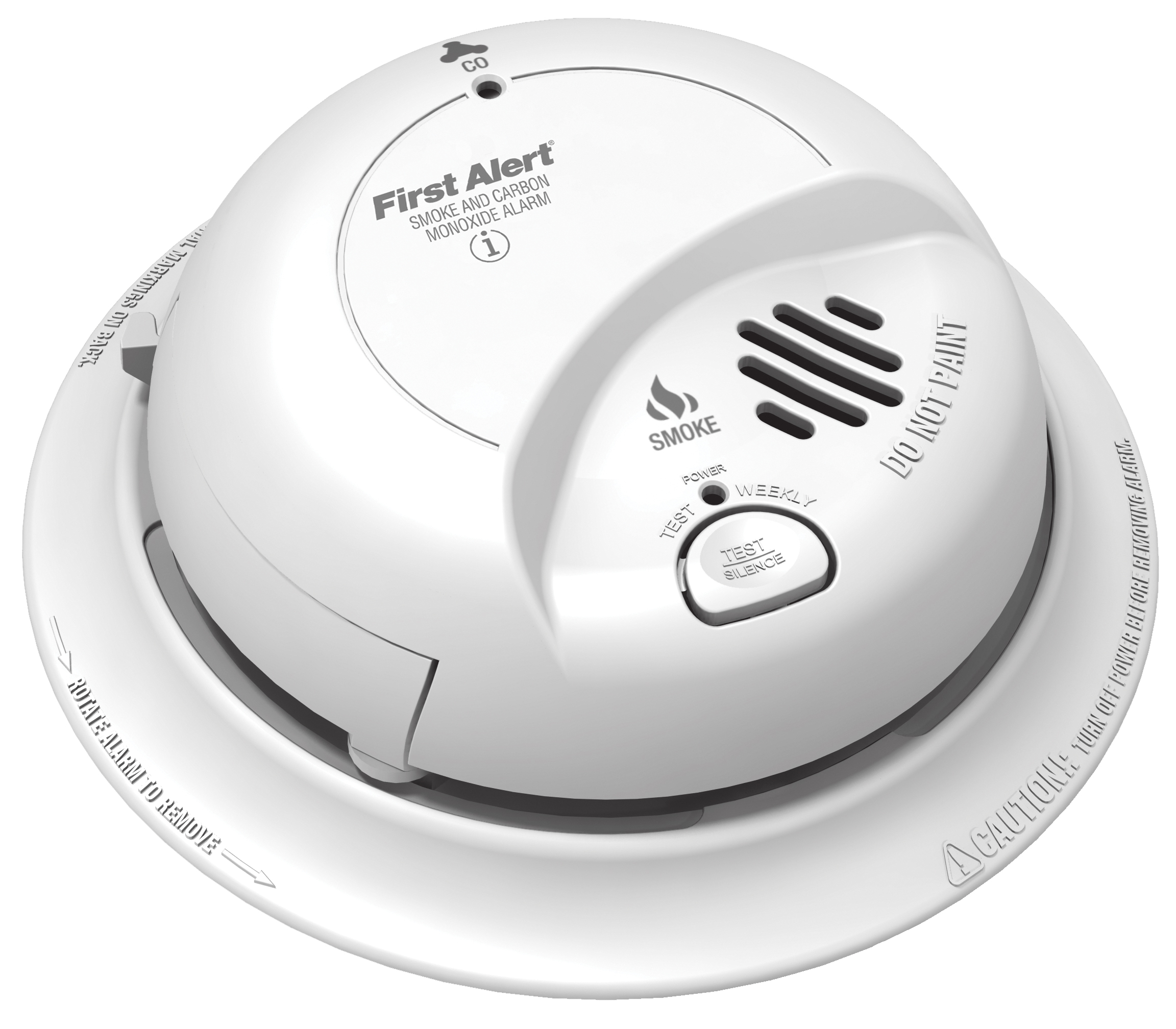 BRKSCO2B COMBINATION SMOKE / CARBON MONOXIDE ALARMS - BATTERY POWERED SILENCE, 9V ALKALINE BATTERY BRK