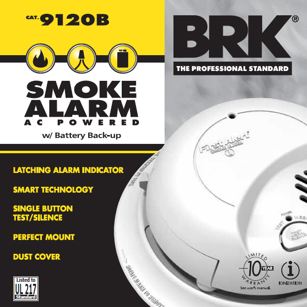 120v ac dc smoke alarm rh brkelectronics com first alert smoke alarm 9120b manual first alert model 9120 manual