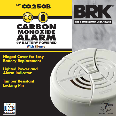 Battery » CO Alarms : CO250B
