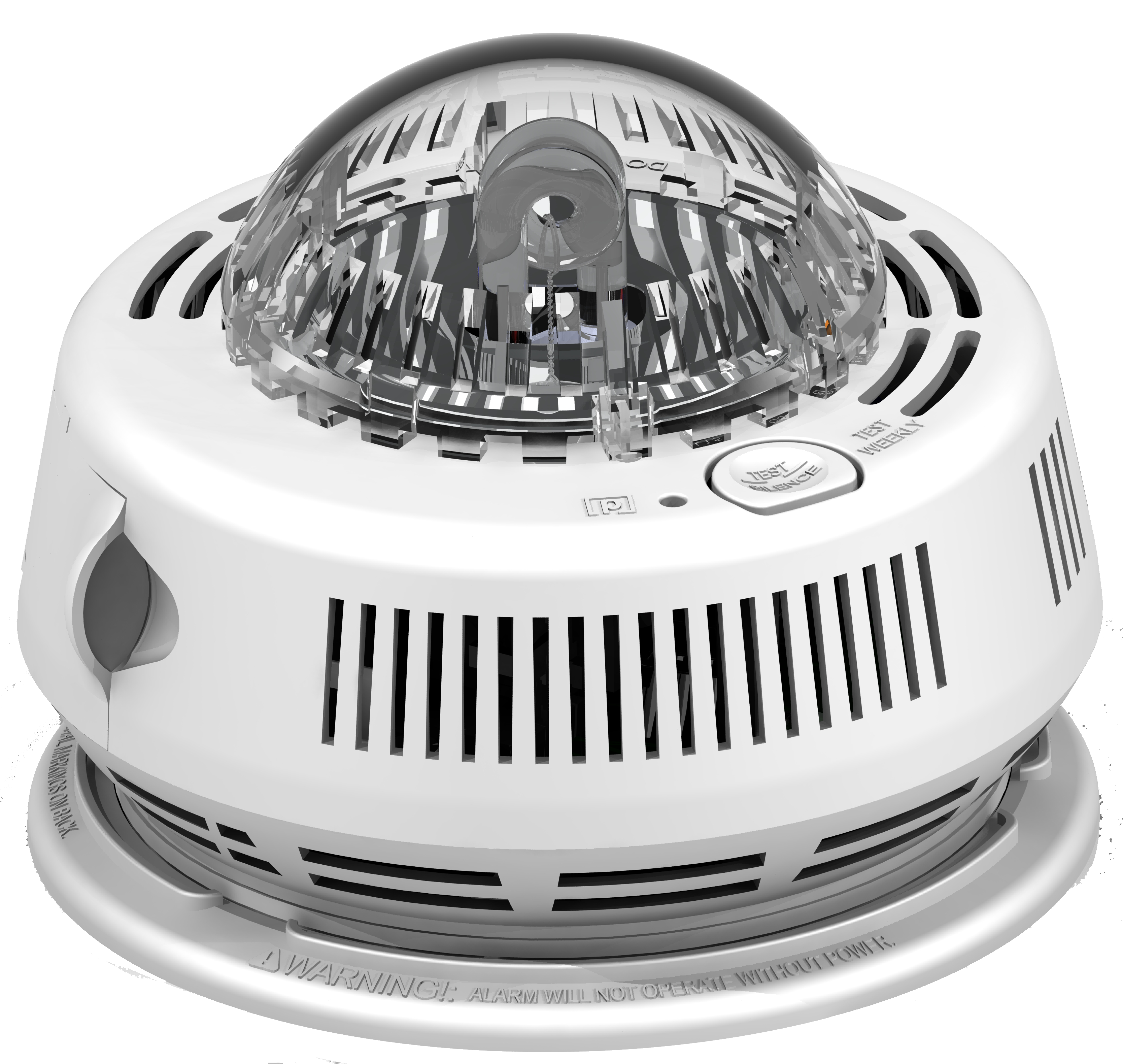 120V AC/DC Photo Smoke Alarm with Integrated Strobe