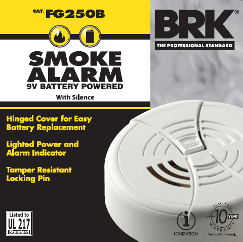 9v Battery Smoke Alarm